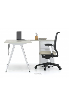L-SHAPE DESK WITH SIDE DRAWER - AI 1614 7-5