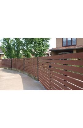 Hàng rào gỗ nhựa 002